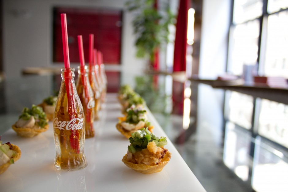 Peter Callahan's mini Cokes and Fried Chicken