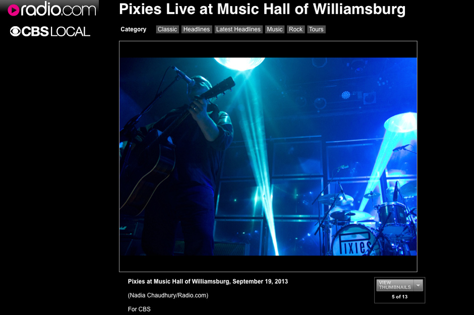 CBS/Radio.com: Pixies Live at Music Hall of Williamsburg