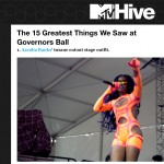 MTV Hive:  The 15 Greatest Things We Saw at Governors Ball