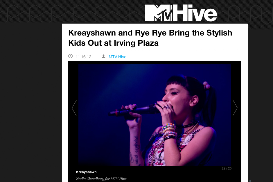 MTV Hive: Kreayshawn and Rye Rye Bring the Stylish Kids Out at Irving Plaza