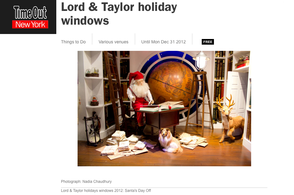 Time Out New York: Lord & Taylor's Holiday Windows