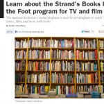 Time Out New York: Learn About the Strand's Books by the Foot Program for TV and Film